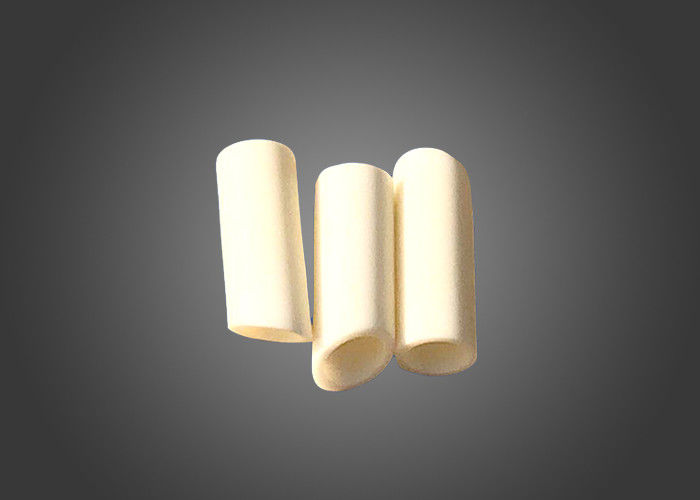 Porous 99 % High Alumina Zirconia Ceramic Parts , Inclined Zirconia Tube / Pipe